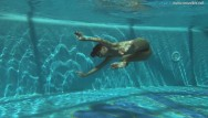 Naked swimming underwater nude - Swimming pool naked action stefanie moon