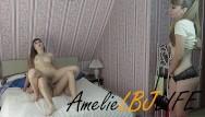 Spying masturbating orgasm Amelielbjlife spying on his stepsister