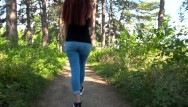 What do teen girls really do at sleep overs - Beautiful girl doing blowjob in the park / public blowjob