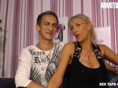 Amateureuro - Smoking Scorching German Cougar Makes A Orgy Gauze With Her Step Son