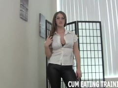 Cei Female Domination And Jizm Licking Fetish Porn