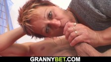 he pounds hot mature woman on the floor