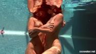 Stephanie seymour bikini Swimming pool girls irina and olla having fun