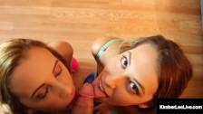 Hot Threesome Fun - Kimber Lee & Ashlynn Taylor Butt Fucked, Kinda?