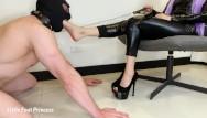 Young princess femdom Femdom slave foot worship little foot princess