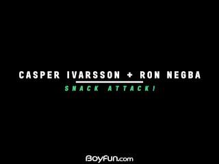 Boyfun – Uncut twink Casper Ivarsson Barebacks Ron Negba