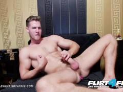 Flirt4Free - Alton Lewis - Blue Eyed Cam Model Stud Fingers Ass and Wanks