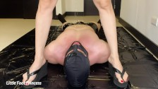 Slave Gets Pissed On And Drinks My Piss | Little Foot Princess