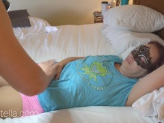 Cute Youthfull Lil Diminutive Jaw-dropping Cougar In Tee-shirt & Undies Pounds With Jism Shot