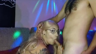 Party girl gets throat fucked and POV he cums all over her face!