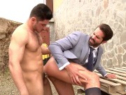 the handsome dani robles get quick fuck by unpredictable rusian dato foland