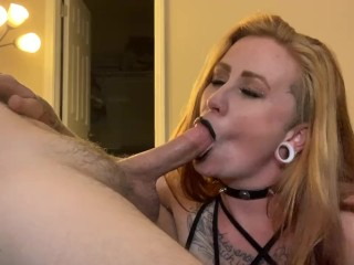 Goth Girl Loves Cum! SLOPPY DEEP THROAT