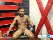 Flirt4Free - Junior Black - Latino Hunk Loves Flogging and Hot Wax Torture