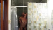 Hidden camera shower sex. Body shaking orgasms