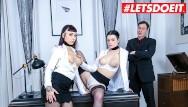 Lesbain bum sex Letsdoeit - hot german secretaries squirt their cunts while boss watches