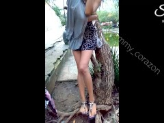Skinny Teen Flashing In Mexico Streets