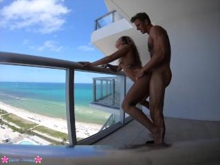 Asian Fat Ass Teen Caught Fucking on Balcony