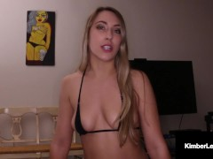 Mouth Pummeled Fox Kimber Lee Face Screws & Wanks Your Rock Hard Prick Pov!