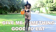 Sexy halloween babes Bangbros - he gives young ebony babe something good to eat for halloween