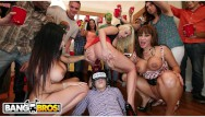 Frat facial - Bangbros - lucky frat boys fuck party crashing pornstars in their dorms