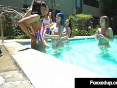 Hot Young Black Beauty Jenna Foxx Pussy Fucking In Massive 6 Girl Orgy!