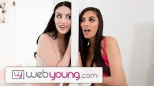 Let's Hope 18yo Lesbians GFs Don't Get Caught by Mom -WebYoung