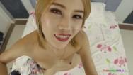 Cute teens white White-skinned thai cute girl sloppy blowjob and pussy creampie