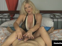 Small Man-meat Longing Milf Charlee Haunt Offers Excellent Handjob!