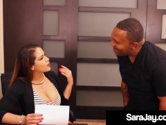Plump Lecturer Sara Jay Showcases Ginormous Ebony Prick Lovemaking In Classroom!