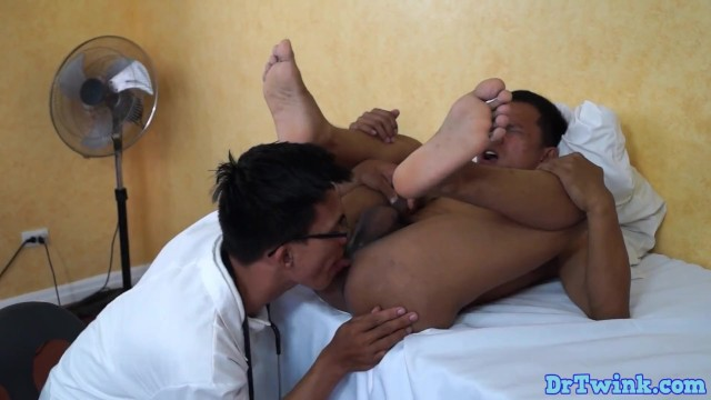 asian twink licking his gay patient
