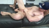 Ginger guys gay Muscular guy fists and dildo fucks his ass, jerks off fat dick and cums
