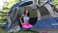 Tenting vagina - Real step brother and sister fuck in tent during family camping trip