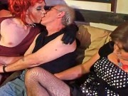 Old and young crossdressers with Grandpa
