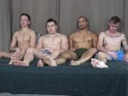 4 Beefy Guys Pound Each Other Bareback - ActiveDuty