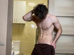 Wet Man After Bathroom Get Rigid & Glad Finishing /big Lollipop|weenie|spunk-pump|fuckpole|pink Cigar|trouser Snake|trunk|wood|dinky|beefstick 23cm / Uncircumcised / Horny