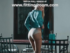 Fetishist Lucy Heart Shoots A Load Dressed In Shining Pantyhose