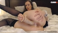 Live sex cams community - Slutty hot maid rides her dildo on live webcam cam4