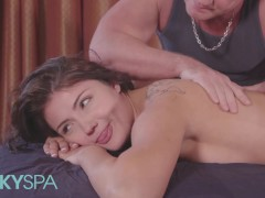 Kinky Spa - Puny Adria Rae Has A Fetish For Being Fumbled By Older Men