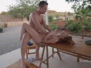 hot girl seduces her boss