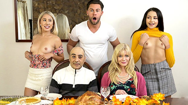 """who s hotter"" - competing for his thanksgiving creampie s10:e6"