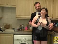 Milf Slave Inhales Cock