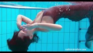 Nude women swimming with dolphins - Hottest swimming pool video for you