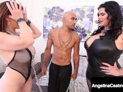 Thick Bootylicious Cuban Angelina Castro & A Huge Ebony Penis Ravage Buxom Sara Jay!