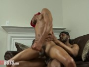 rocksboys has got some hot bareback threesome action for you
