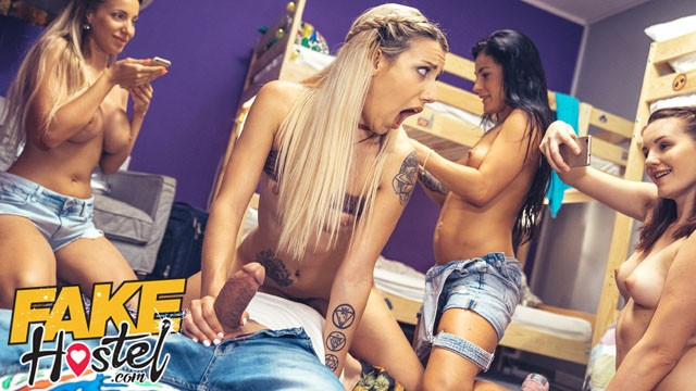 Fake Hostel young American revenge fucking while girlfriends film