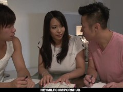 Exclusive Threeway At Domestic With Big-boobed Saki Sud