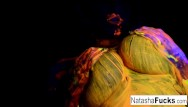 Young nude black women videos - Natasha shoots a fun black light video