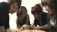 Porn women dominating men cartoons - Cfnm handjob with cumshot by group of dominant japanese women