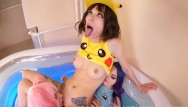 Purple pleasures Three little lesbian ahegao e-girls fuck