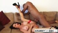Granny mature sex The very best of granny gets bbc